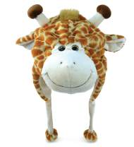 "Puzzled 17"" Soft Giraffe Plush Hat Cozy Party Costume Head Accessories, Safari Stuffed Giraffe Gifts Beanie Hat, Funny Beanie Stuffed Animals Hat, Warm Fleece Crazy Hats, Kids Winter Hat - One Size"