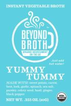 Beyond Broth Ginger Basil Yummy Tummy Organic Vegan Vegetable Instant Sipping Broth; For On The Go Or Cooking Keto, Paleo and Whole30 18 single serve packets