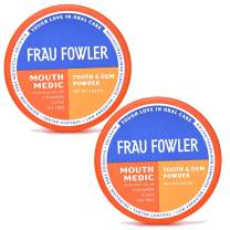 Frau Fowler Natural Oral Care - MOUTH MEDIC Tooth Powder, 2 Pack, Botanically Clean, Teeth-Whitening, Remineralizing, Fluoride Free, Gluten Free, SLS Free, Restores Enamel and Freshens Breath, 4 oz
