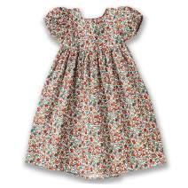 Toddle Baby Girl Summer Backless Dress Girls Wildflower Floral Dress Lantern Sleeve Sundress