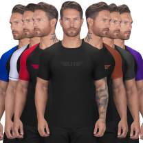 Elite Sports BJJ Jiu Jitsu Rash Guards, Men's BJJ, No GI, MMA Ranked Short Sleeve Compression Base Layer Rash Guard