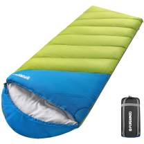 FUNDANGO XL Oversize All Weather Sleeping Bag for Adult, Big Tall Man,Wide Lightweight Waterproof Portable Compact Sleeping Bag with Compression Sack for Camping, Backpacking, Hiking