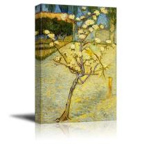 "wall26 - Small Pear Tree in Blossom by Vincent Van Gogh - Canvas Print Wall Art Famous Oil Painting Reproduction - 24"" x 36"""