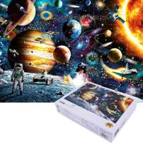STARTOSTAR Space Puzzle 1000 Piece Jigsaw Puzzle for Adult – Planets and Astronaut in Space Jigsaw Puzzle