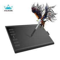 Huion Inspiroy H1060P Android Supported Drawing Tablet Digital Graphics Art Tablet with Battery-Free Stylus 8192 Pressure Sensitivity Tilt Function 12 Express Keys-10x6.25inch