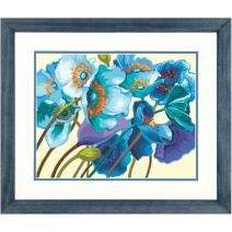 Dimensions Blue Poppies Paint by Numbers for Adults, 14'' W x 11'' L