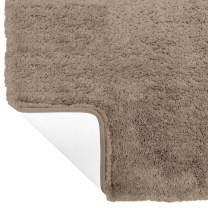Gorilla Grip Original Premium Luxury Bath Rug, 42x24 Inch, Incredibly Soft, Thick, Absorbent Bathroom Mat Rugs, Machine Wash and Dry, Plush Carpet Mats for Bath Room, Shower, Hot Tub, Spa, Beige
