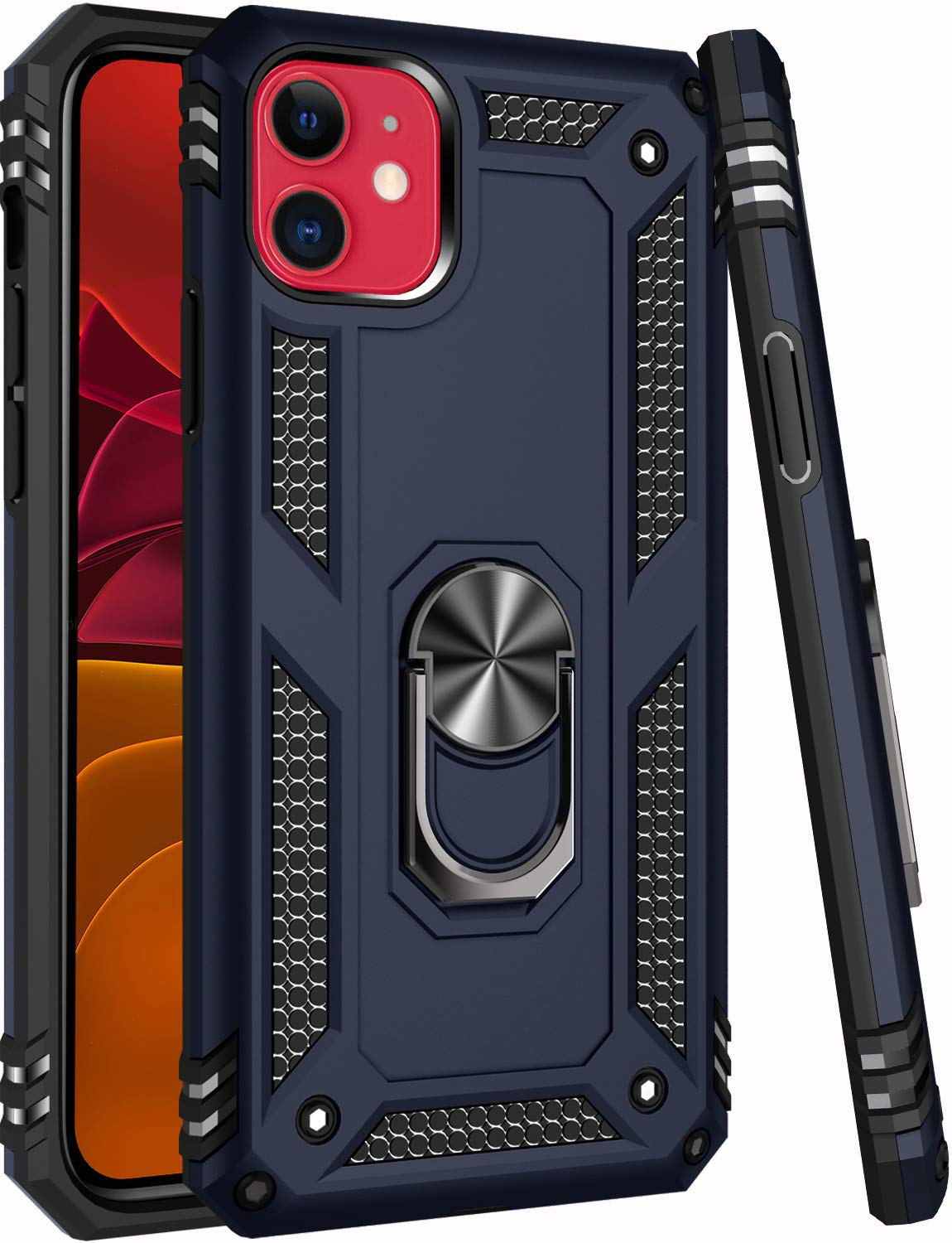 iPhone 11 Case,15ft Drop Tested,ZADORN Military Grade Heavy Duty Rugged Armor Cover Hard PC and Soft TPU Protective Phone Case for iPhone 11 6.1 inch 2019 Blue
