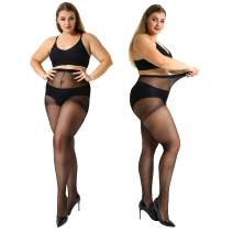 MANZI Plus Size Pantyhose for Women Sheer Stocking