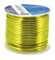 Mandala Crafts Anodized Aluminum Wire for Sculpting, Armature, Jewelry Making, Gem Metal Wrap, Garden, Colored and Soft, 1 Roll(12 Gauge, Yellow Green)