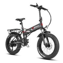 eAhora X5s 20 Inch Fat Tire Folding Electric Bike 48V 10.4Ah Snow Beach Electric Bicycle Lithium Battery 500W Ebike for Adults Smart E-PAS Power Recharge System 7 Speed, Standard Version