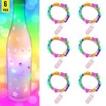 illumiForce LED Fairy String Lights, Fairy Lights Battery Operated, Copper Wire 6.5ft 20LEDs, Decorations for Christmas Tiny House Garland Party Wedding Table Mason Jar Crafts, Multi-Color (6 Sets)