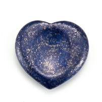 Jovivi Worry Stone Positive Energy Meditation Crystal Thumb Lapis Lazuli Chakra Healing Heart Love Carved Palm Pocket Stone