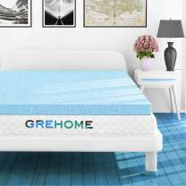 GREHOME Mattress Topper Full, 3 Inch Gel Infused Memory Foam Mattress Topper, Mattress Topper for Full Bed, 53 x 74 x 3 inches (135 x 188 x 7.62 cm)
