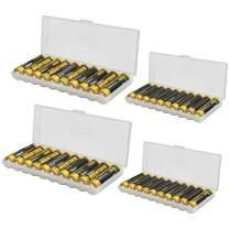 Whizzotech AA AAA C D Battery Storage Case Holder Organizer Box (2AA + 2AAA)