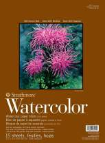 """Strathmore 400 Series Watercolor Block, Cold Press, 11""""x15"""" Bound (4 sides), 15 Sheets/Block"""