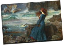 Panther Print John William Waterhouse Miranda The Tempest Canvas Print Picture Wall Art Large 30X20 Inches