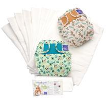 Bambino Mio, miosoft reusable cloth diaper set, rainforest a, size 2 (21lbs+)