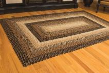 IHF Home Decor Braided Area Rug | Rectangle Handmade Carpet | Stallion Design Natural Jute Material | Black, Mustard, Cream Woven Collection - 22 x 72 Inch