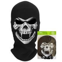 teemerryca Winter Windproof Black Motorcycle Ski Mask Balaclavas for Men
