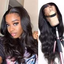 Lace Front Wigs Human Hair for Black Women 150% Density 9A Brazilian 13×4 Viennois Body Wave Human Hair Lace Front Wigs Pre Plucked with Baby Hair Natural Hairline Wigs(14inch)