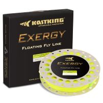KastKing Exergy Fly Fishing Line - Weight Forward Floating Lines for Freshwater - Double Micro Loops - Laser Printing - BioSpool - Available in 5 Colors, Super Value!