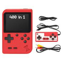 Handheld Game Console, PomisGam Retro Mini Game Player,400 Classical FC Games, Support for Connecting TV & Two Players with Rechargeable Battery Gift for Kids and Adult