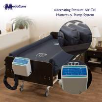 """Alternating Pressure Bariatric Mattress for Hospital Beds with Pump and Built in Guard Rails - Low Air Loss, Quilted Nylon Cover - 80"""" x 42"""" x 10"""" - Bed Sore Treatment - Comfort Zone by Medacure"""