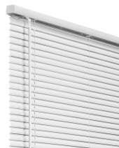 "CHICOLOGY Cordless 1-Inch Vinyl Mini Blinds, Horizontal Venetian Slat Light Filtering, Darkening Perfect for Kitchen/Bedroom/Living Room/Office and More, 23"" W X 72"" H, White (Commercial Grade)"