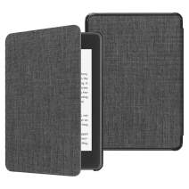 Fintie Slimshell Case for All-New Kindle Paperwhite (10th Generation, 2018 Release) - Premium Lightweight Fabric Cover with Auto Sleep/Wake for Amazon Kindle Paperwhite E-Reader, Denim Charcoal