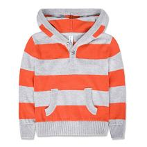 Benito & Benita Boys' Hoodies Striped Pullover Sweater Button Up with Pocket