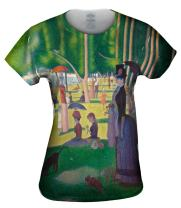 Yizzam- Georges Seurat - The Sunday Afternoon on .-Tshirt- Womens Shirt 1478