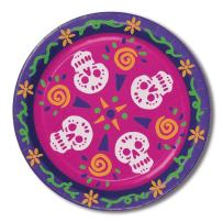 Beistle 00939 Day Of The Dead Plates44; Pack Of 12