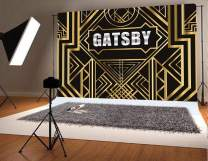 Fanghui Great Gatsby Photography Backdrops 1920s Party Background Decoration Black and Golden Photo Booth Studio Props Vinyl 7x5ft