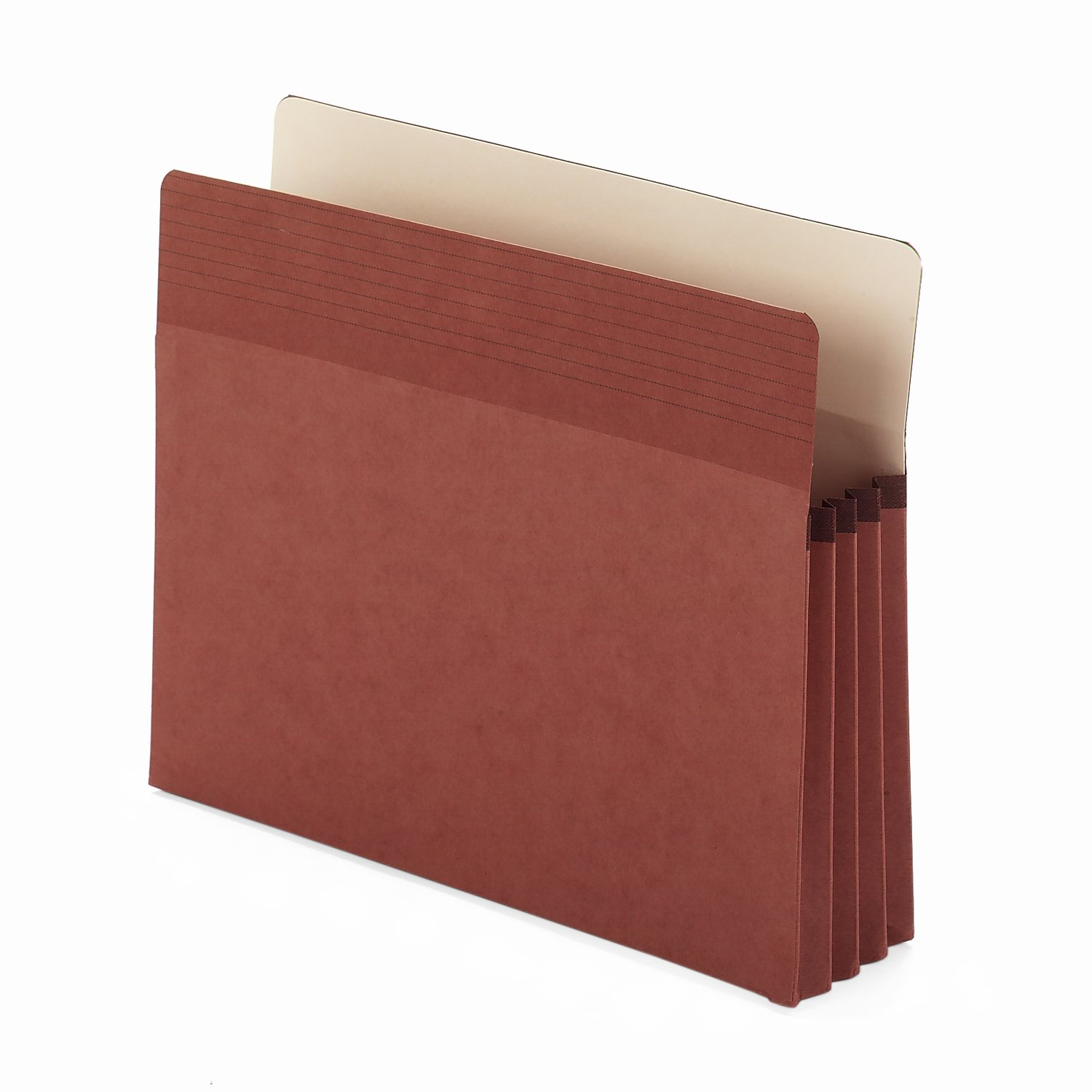 """Smead Easy Grip File Pocket, Straight-Cut Tab, 3-1/2"""" Expansion, Letter Size, Redrope, 25 per Box (73208)"""