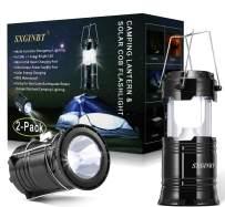 COB Lantern, Camping Solar Lanterns,SXGINBT 2-Pack Taclight Lantern,USB Rechargeable Emergency Flashlight Lighting for Hurricane/Earthquake/Power Outage