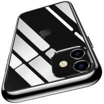 Meifigno Natural Series iPhone 11 Case [Anti-Yellow], Clear Hard PC with Black Soft Edges, Protective Clear Case Compatible for iPhone 11 6.1 inch (2019), Black