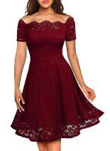 Women Evening Dresses Lace Bodice Elegant Hi-Low Prom Party Dress Black