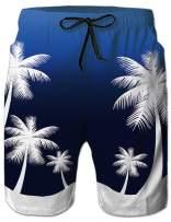 RAISEVERN Men's Swim Trunks Beach Board Shorts Quick-Dry Beachwear Bathing Suit Mesh Liner Swim Shorts