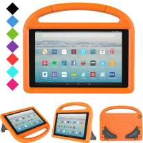 All-New Fire HD 10 2019/2017 Tablet Case - TIRIN Light Weight Shock Proof Handle Stand Kids Friendly Case for Amazon Fire HD 10.1 Inch Tablet (9th/7th Generation, 2019/2017 Release), Orange