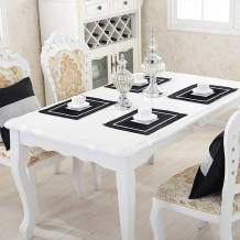 HeMiaor Set of 2 Rhinestone Place Mats for Shining Wedding Baby Shower Dinner Table Decor,Buffet, Prom,30x40cm(12x16-Inch),Black