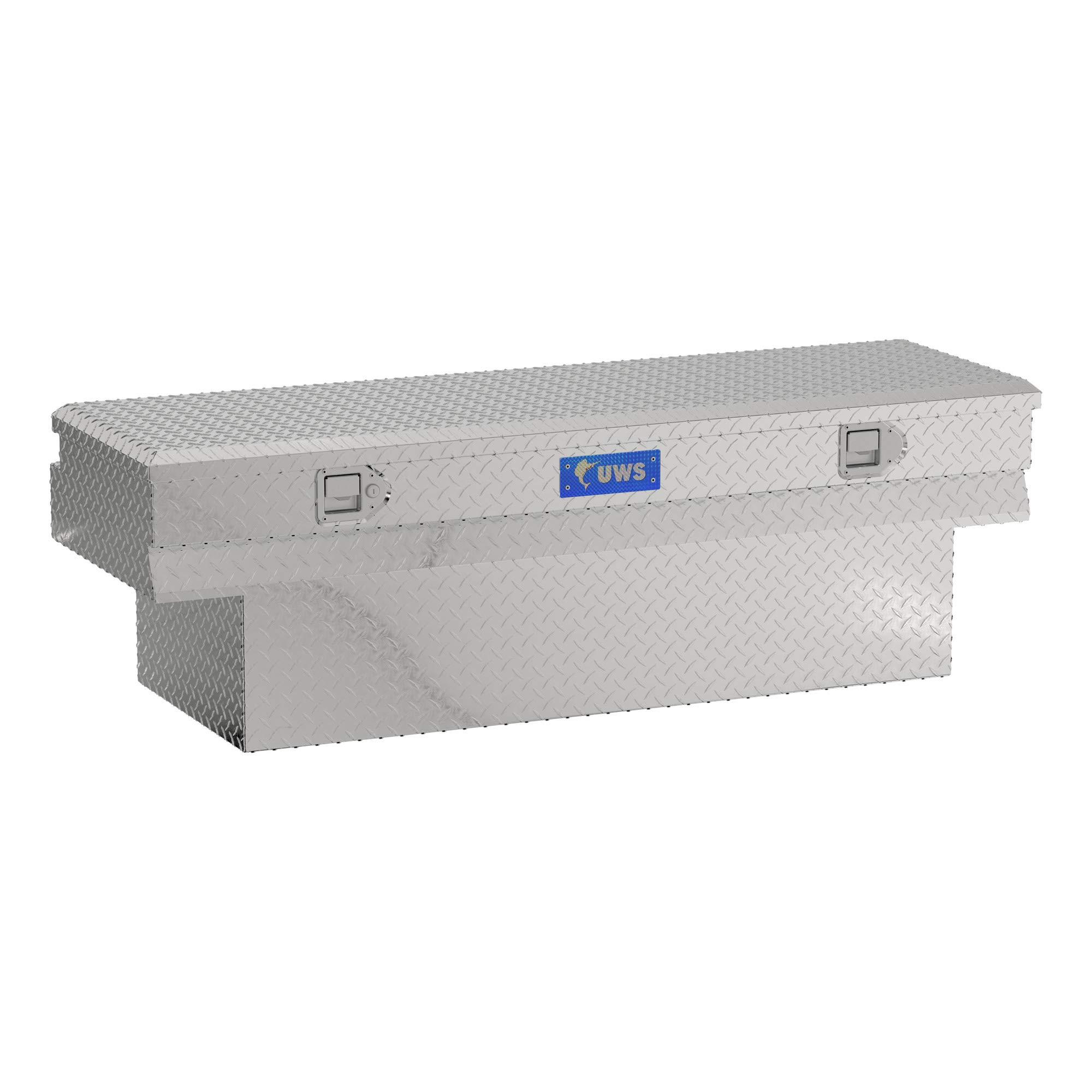 UWS EC20331 60-Inch Heavy-Wall Aluminum Notched Truck Storage Box, RigidCore Lid