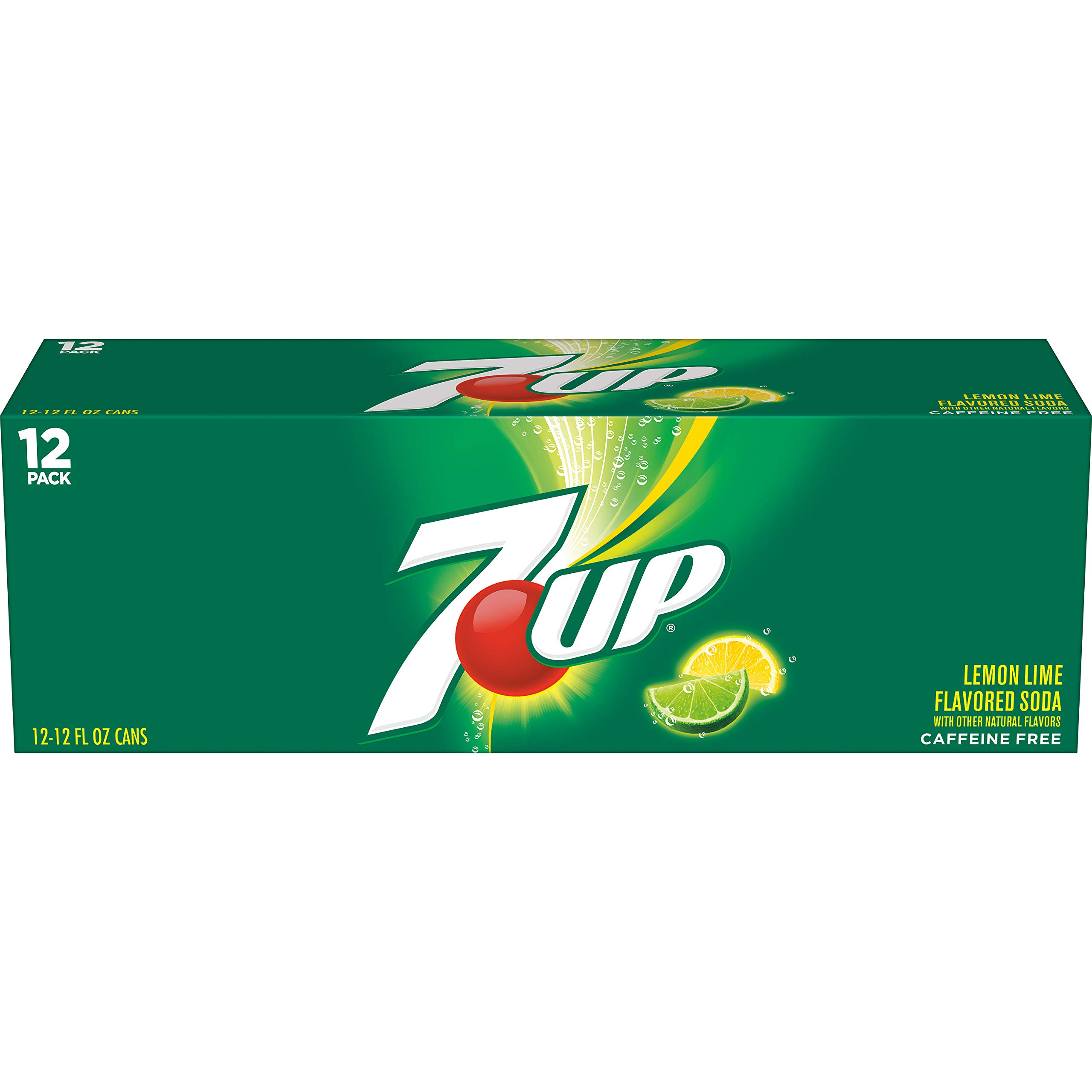 7UP Lemon Lime Soda, Naturally Flavored and Caffeine Free, 12 Fl Oz Cans (pack of 12)