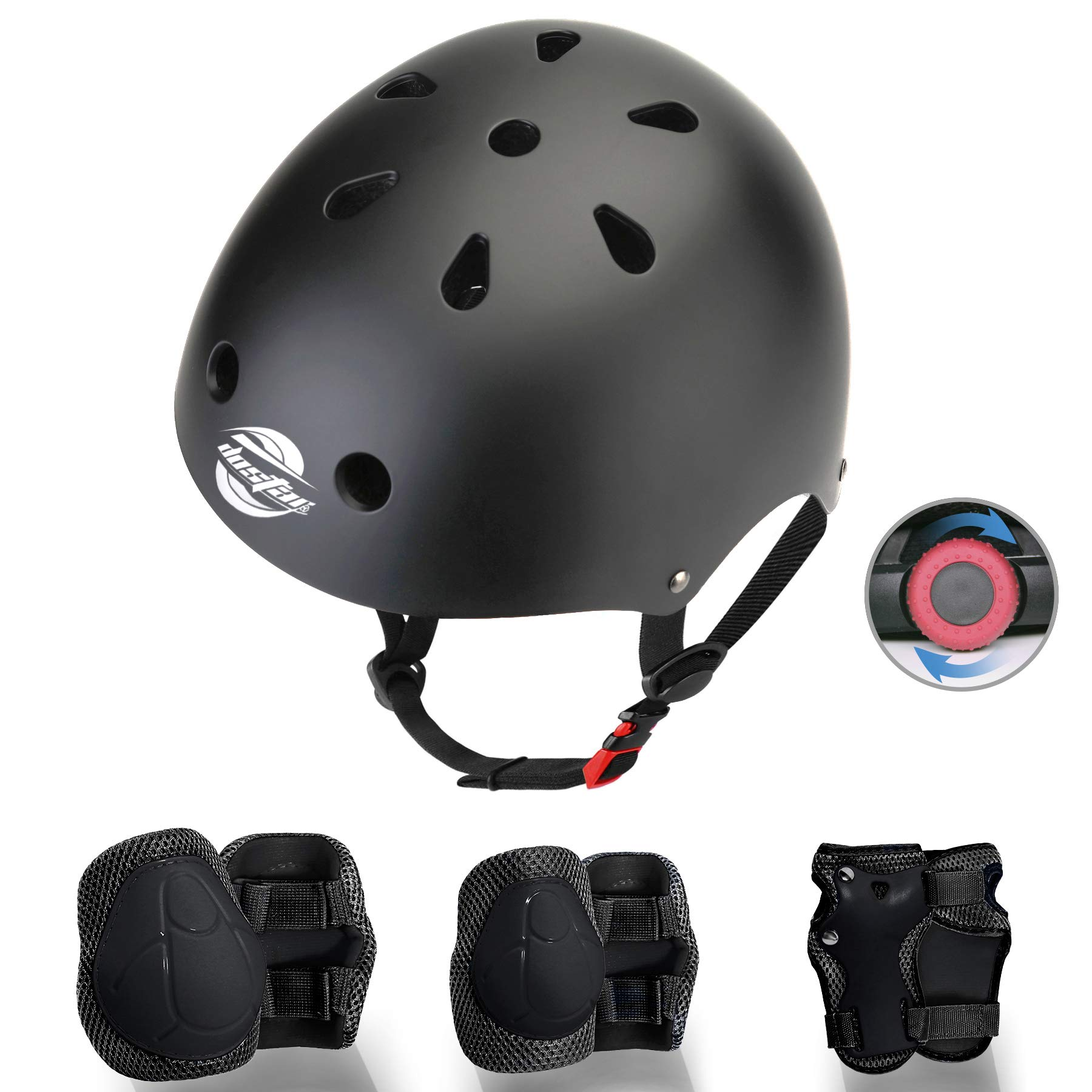 Bike Adjustable Helmet CPSC Certified for Ages 3-8 Years Boys Girls with Protective Gear Set Knee/&Elbow Pads and Wrist Guards for Skateboard Scooter. Roller Skating Cycling