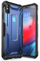 iPhoneXsMaxCase, SUPCASE Unicorn Beetle Series Premium Hybrid Protective TPU and PC Clear Case for iPhoneXsMaxCase 6.5 Inch 2018 Release (Blue)