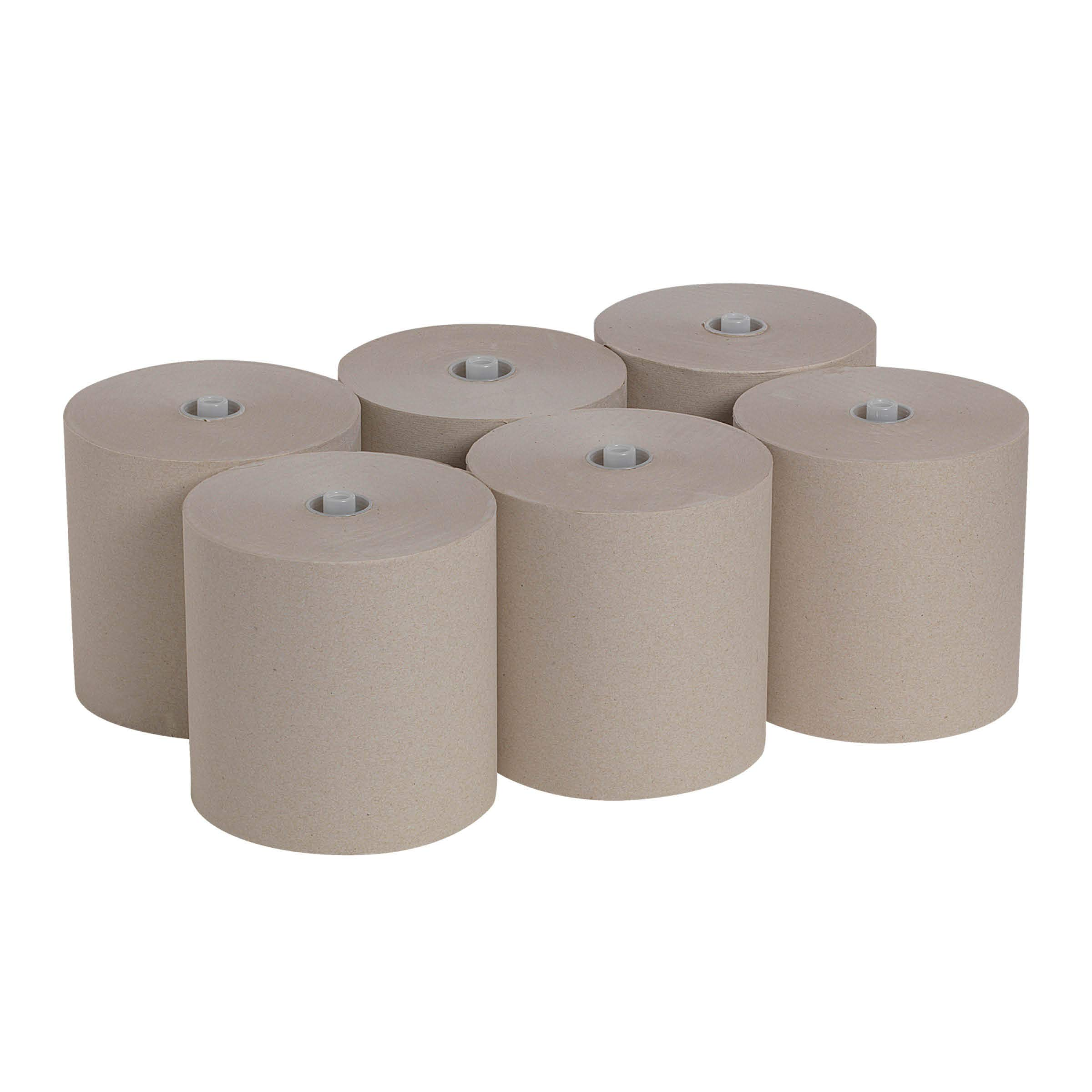"""Pacific Blue Ultra 8"""" High-Capacity Recycled Paper Towel Roll by GP PRO (Georgia-Pacific), Brown, 26495, 1150 Feet Per Roll, 6 Rolls Per Case"""