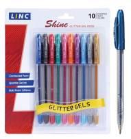 Shine glitter gel pen 10 pk - Assorted