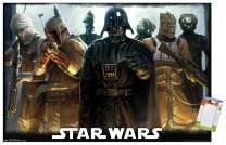"Trends International Poster Mount Star Wars: Saga - Bounty Hunters, 22.375"" x 34"", Poster & Mount Bundle"