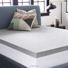 LUCID 3 Inch Bamboo Charcoal Memory Foam Mattress Topper - Cal King