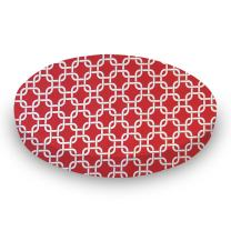 SheetWorld Round Crib Sheets - Red Links - Made In USA
